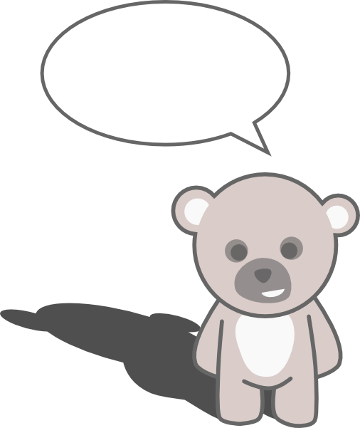 banner freeuse Baby bear clipart black and white. Free teddy animations speaking