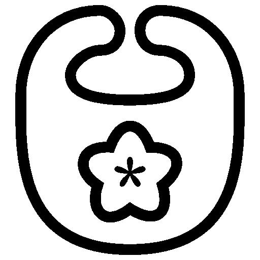 svg black and white stock Baby Bib Icon