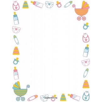 picture library Baby borders clipart. Shower border paper for