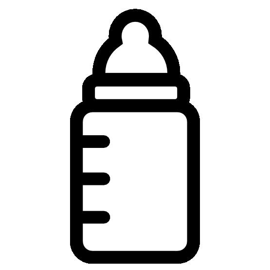 jpg black and white Baby Bottle Black Clipart