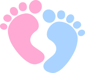 jpg black and white Feet clip art online. Vector baby