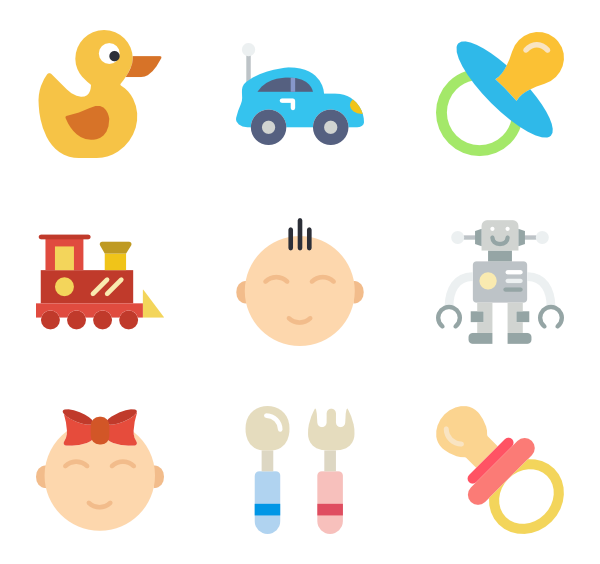 picture transparent stock  toy icon packs. Vector baby
