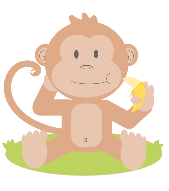 png free download Monkey baby clipart