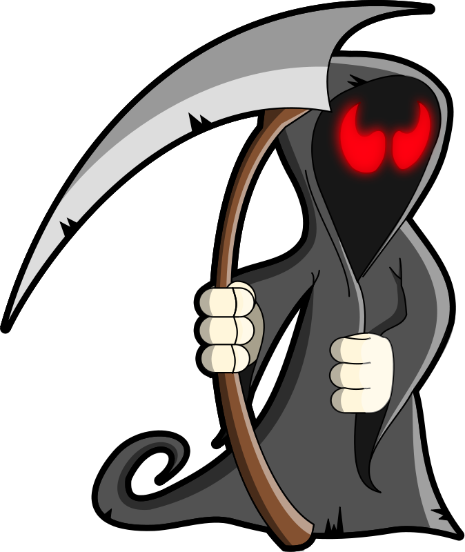 svg royalty free download Skeleton animations free halloween. Grim reaper clipart grm