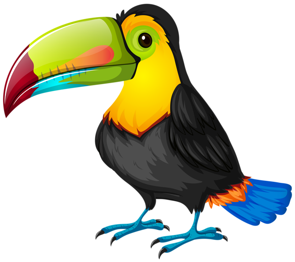 svg black and white download Toucan Cartoon PNG Transparent Image