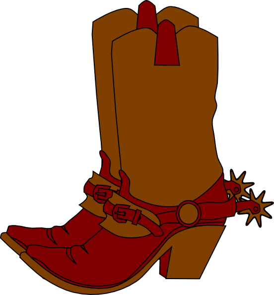 vector library download Baby Cowboy Boots Clipart