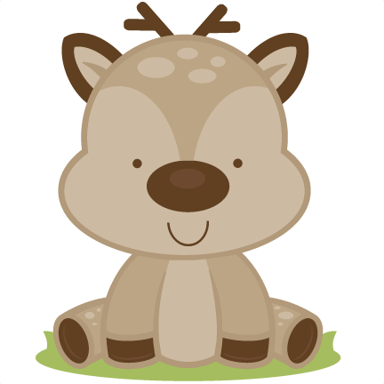 picture download Woodland bear clipart. Baby deer svg cutting