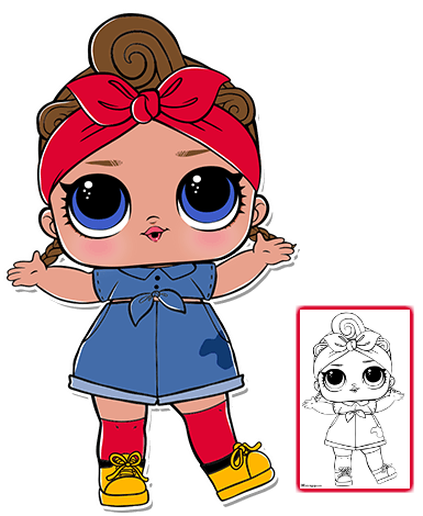 banner freeuse library Lol Dolls Clipart at GetDrawings