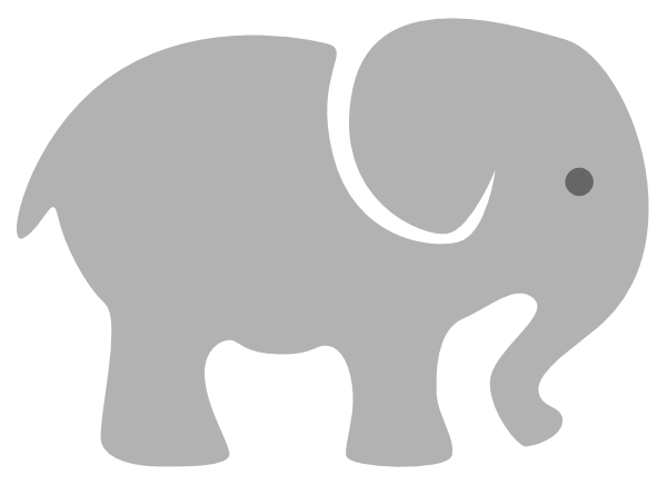 banner freeuse download Light Grey Baby Elephant Clip Art at Clker