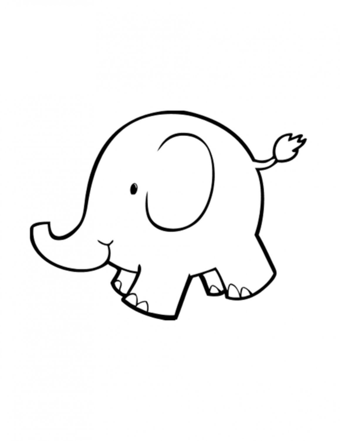 graphic transparent download Clip art library . Baby elephant clipart outline