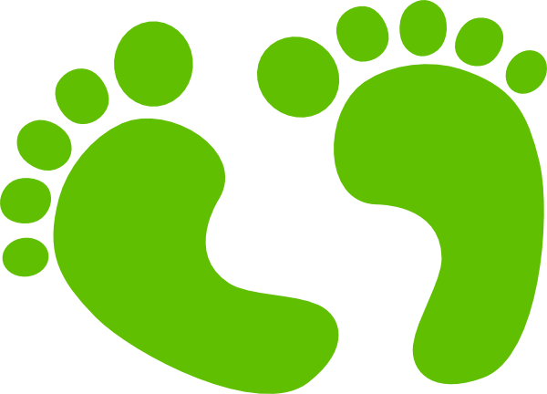 image royalty free library Baby footprint clip art. Feet walking clipart