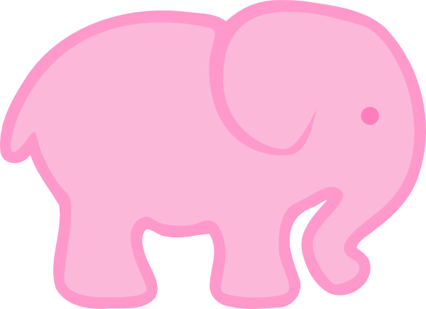 png royalty free library Pink Elephant Clip Art at Clker
