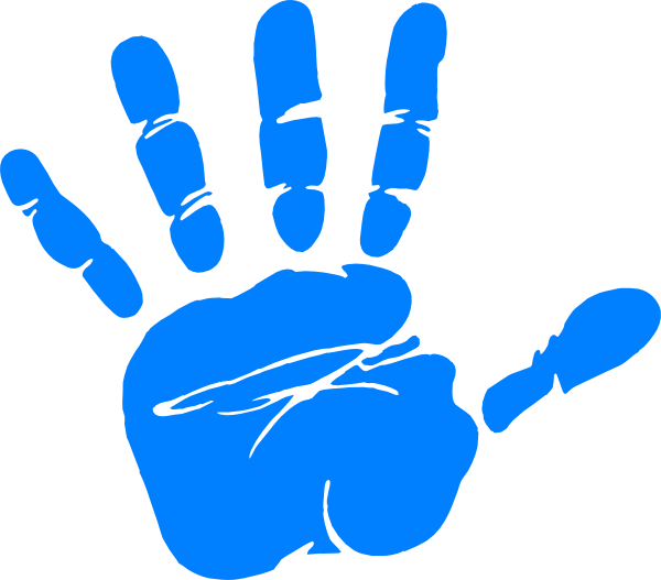 png library Blue Baby Hand Prints Clipart
