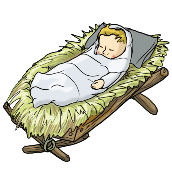 clip art library Free Images Of Baby Jesus In A Manger