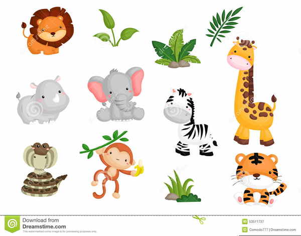 banner black and white stock Shower free images at. Baby jungle animal clipart