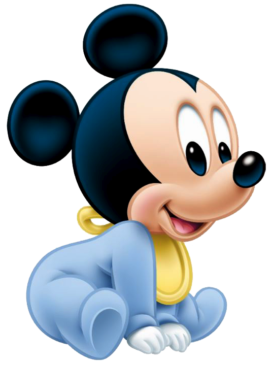 png transparent library Baby Mickey Sit