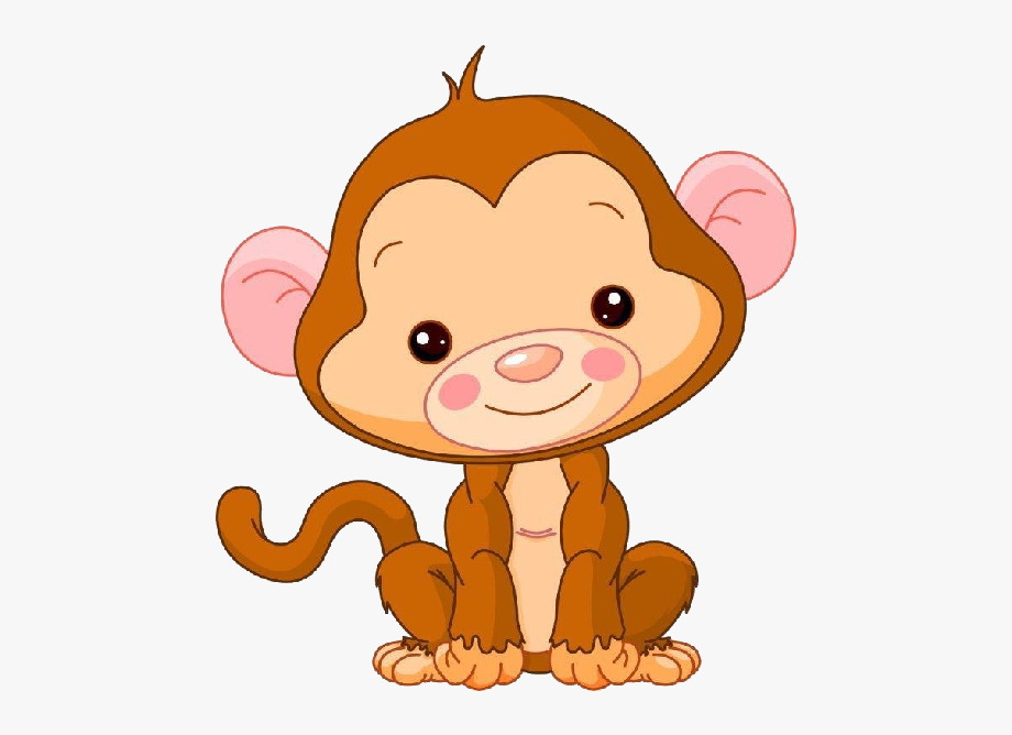 black and white stock Ape clipart baby. Cute monkey