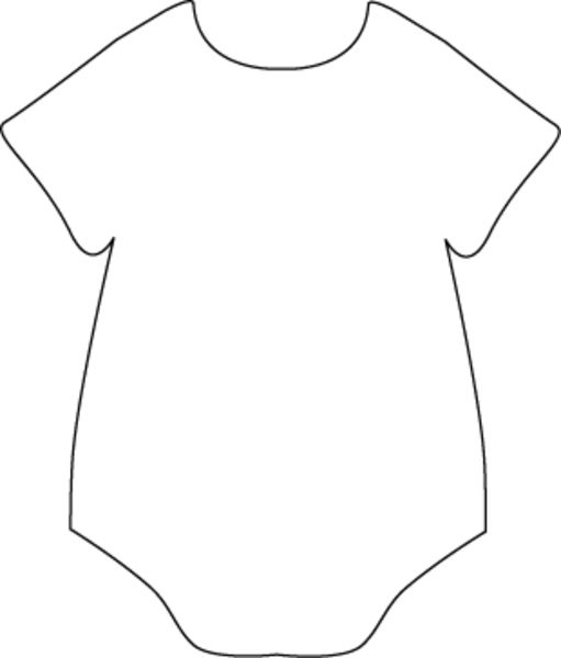 picture freeuse library Vector baby clothes. Onesie black white free