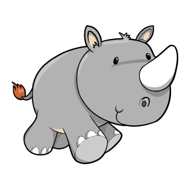 svg stock Cartoon Baby Rhino
