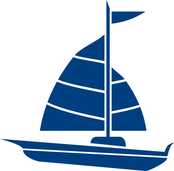 free Vector boat dinghy. Navy blue sailboat clipart