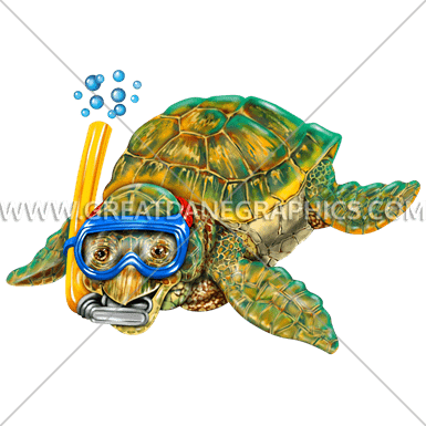 graphic transparent download Snorkel production ready artwork. Baby sea turtle clipart