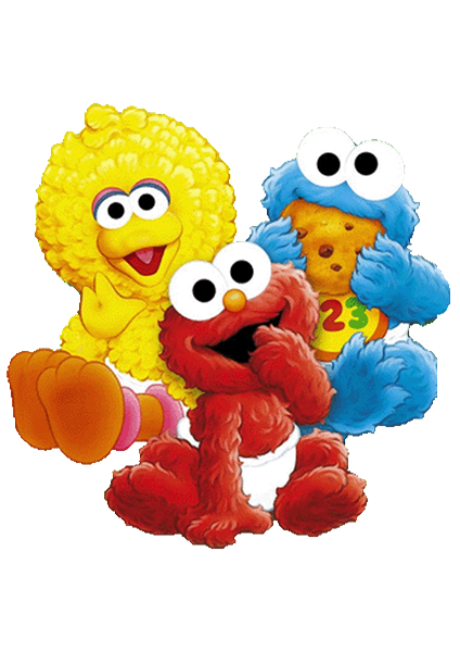 clip art download Sesame Street Characters Birthday Invitation ALL COLORS ALL