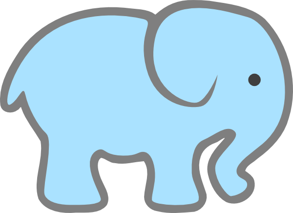clip transparent library Elephant Face Template Printable