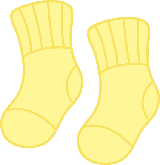 svg black and white library Yellow Baby Socks