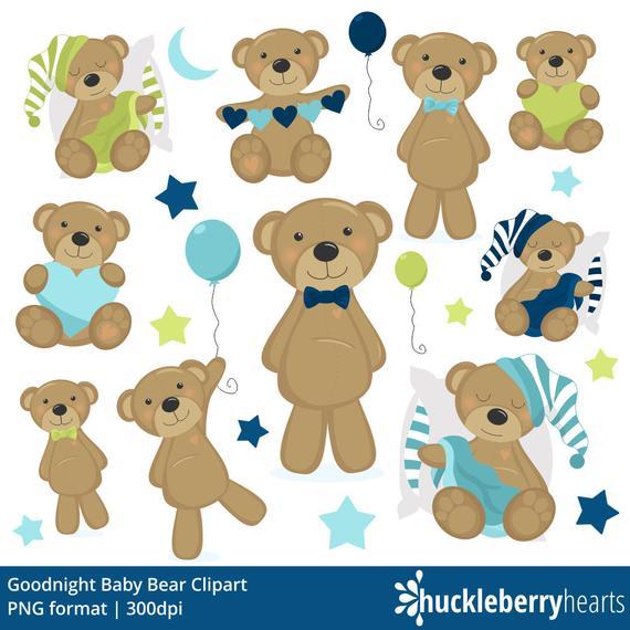 stock Baby teddy bear clipart. Clip art boy blue