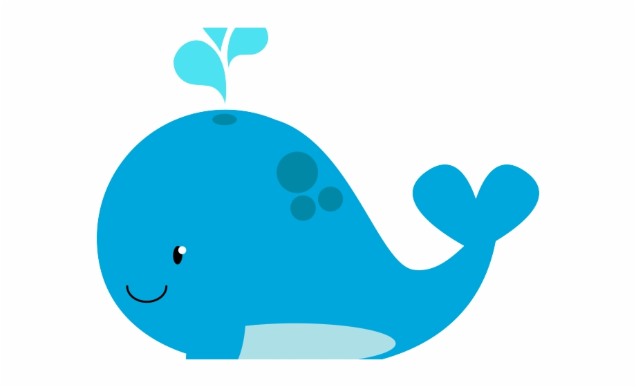 vector royalty free library Blue beach . Baby whale clipart