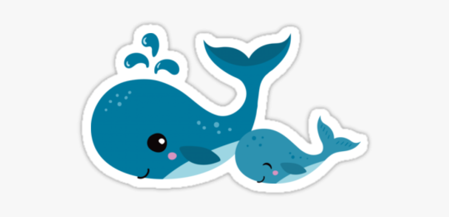 freeuse stock Baby whale clipart. Blue mommy cute cartoon