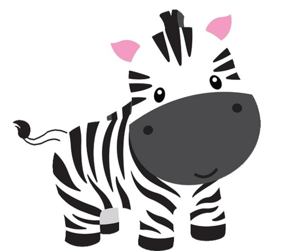 graphic Top shower print drawing. Baby zebra clipart