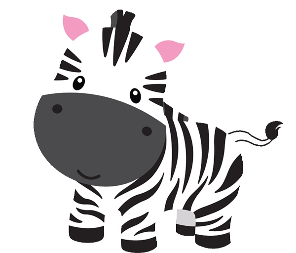 vector library Baby zoo animals clipart. Free zebra download clip
