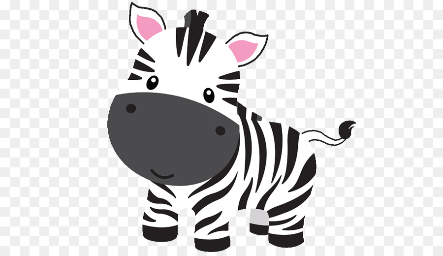 vector free stock Cartoon horse nose cat. Baby zebra clipart