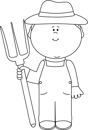 image royalty free White Farmer Boy Clip Art Image Black And White Outline Of A Farmer