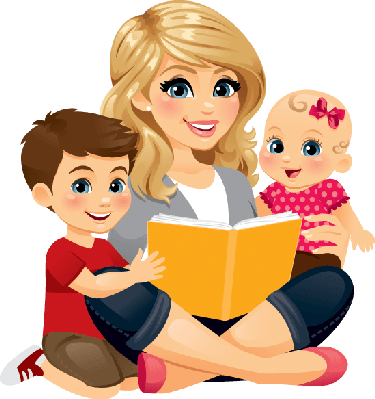 clipart transparent stock Nanny baby sitting clip. Babysitting clipart unhappy family.