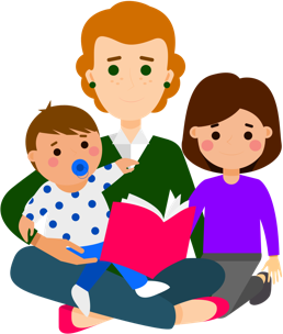 vector free library Mindful co parenting helping. Babysitting clipart unhappy family.