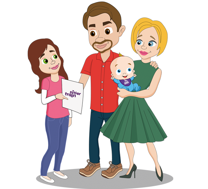 jpg freeuse stock Babysitting clipart unhappy family. Sitter train parents when.