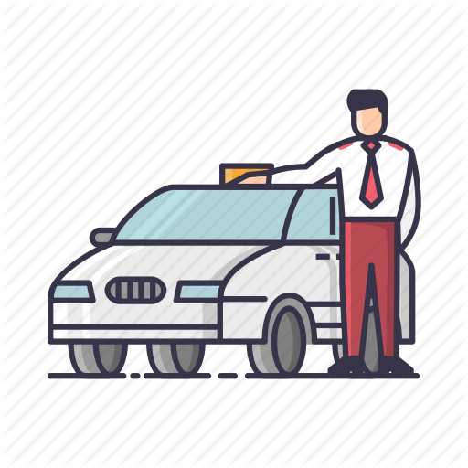 png black and white library Driving Clipart auto driver