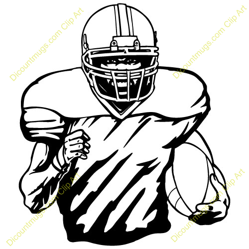 image freeuse download Back clipart football player. Running panda free .