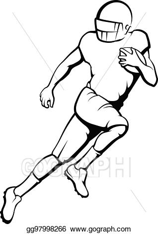 svg transparent download Back clipart football player. Vector stock american running.