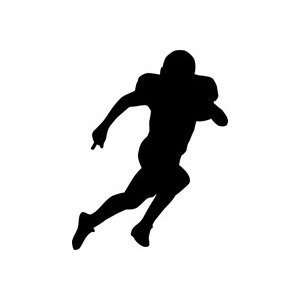clip art Free running cliparts download. Back clipart football player.
