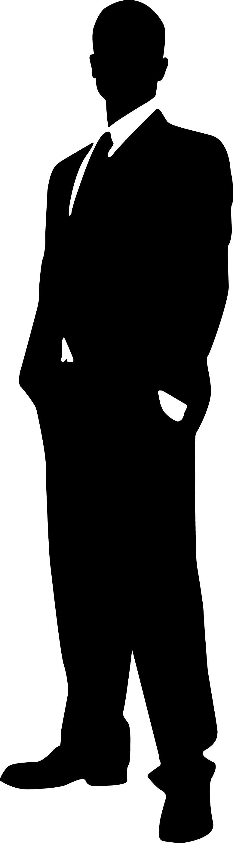 png freeuse library Man clipart black and white. Silhouette images at getdrawings.