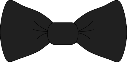 vector freeuse library Bow tie black and. Bowtie clipart tye