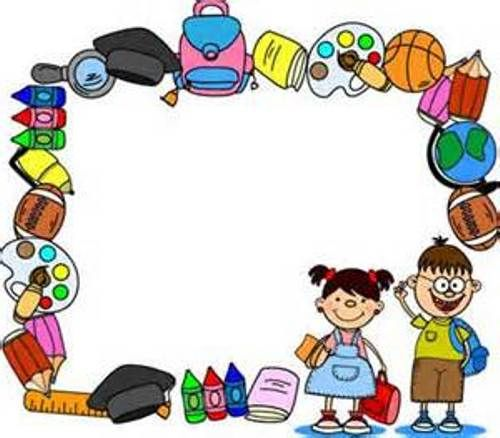 freeuse Clip art border escuela. Back to school clipart borders