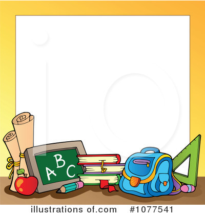 vector black and white Back to school clipart borders.  clipartlook