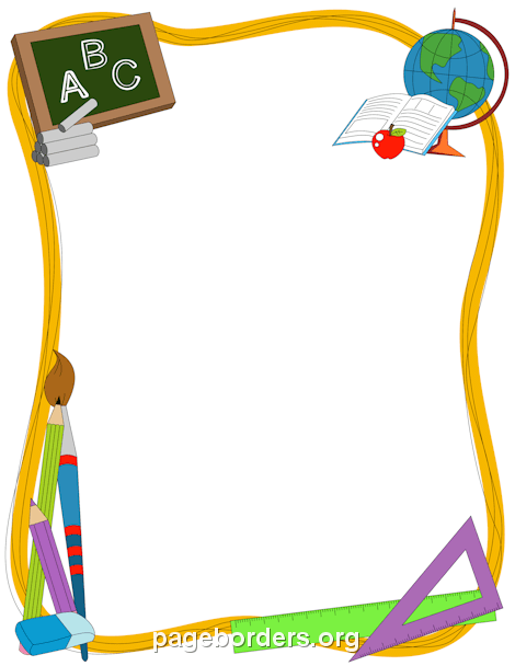 clipart royalty free download Back to school clipart borders. Border creative things