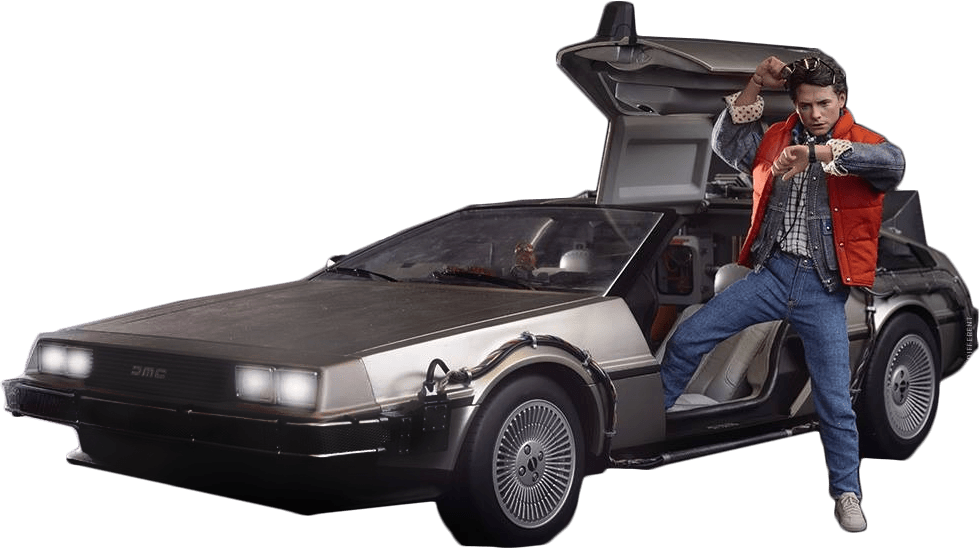 jpg free download Delorean Marty Back To The Future transparent PNG