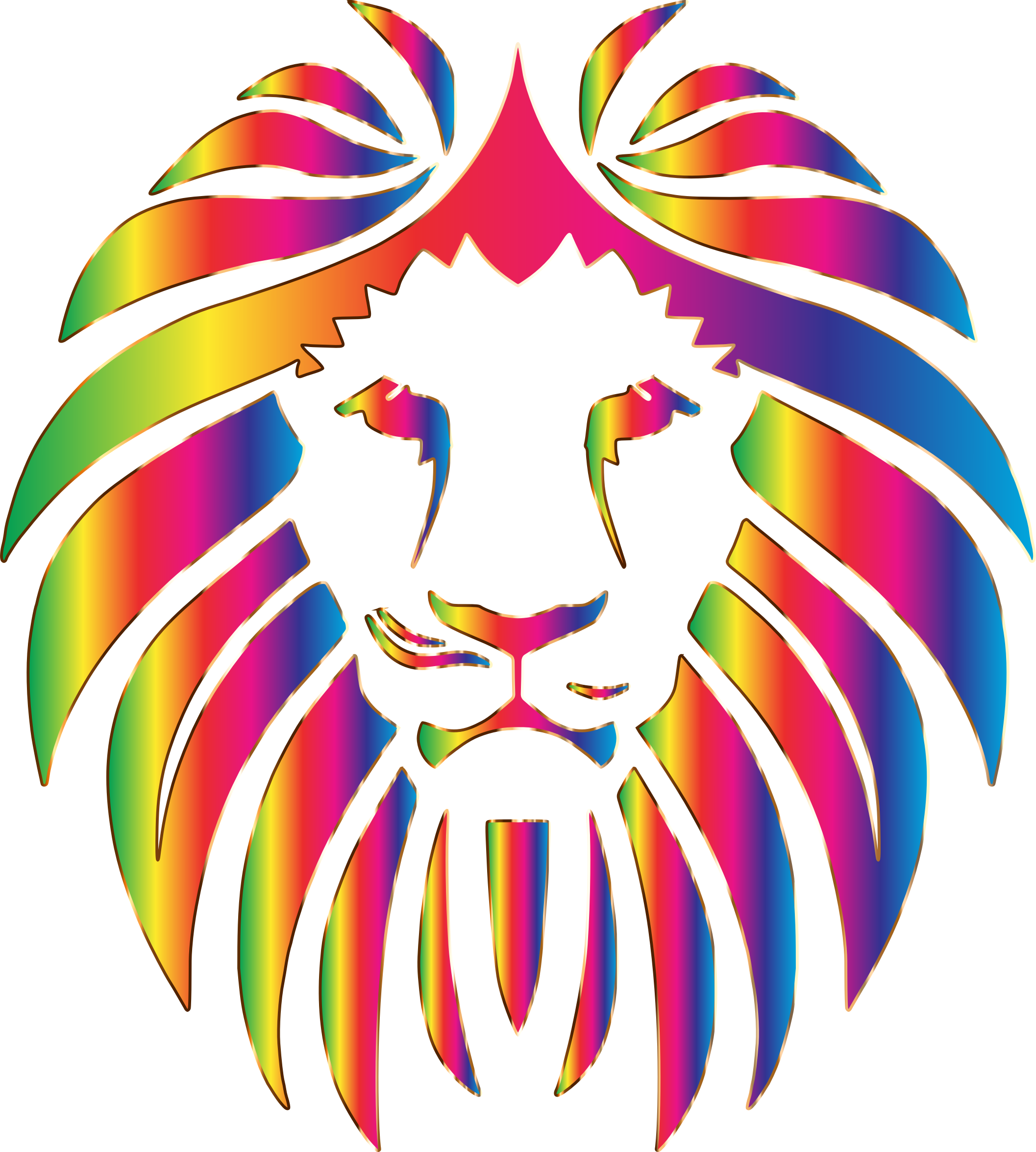 black and white download Prismatic lion no big. Background clipart