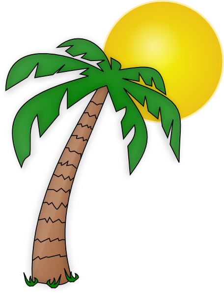 clipart freeuse Surfing clipart palm tree. Clip art transparent background